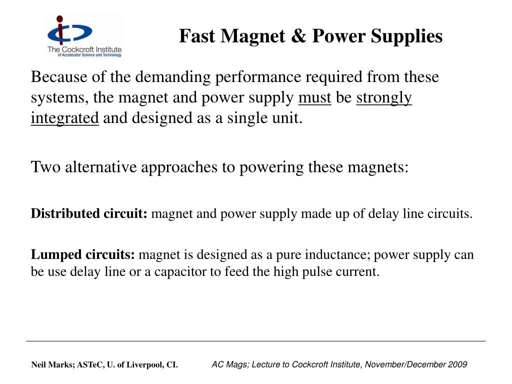 Fast Magnet & Power Supplies