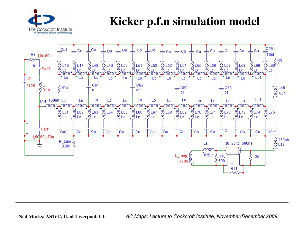 Kicker p.f.n simulation model