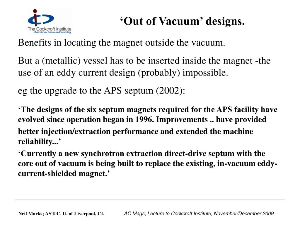 'Out of Vacuum' designs.