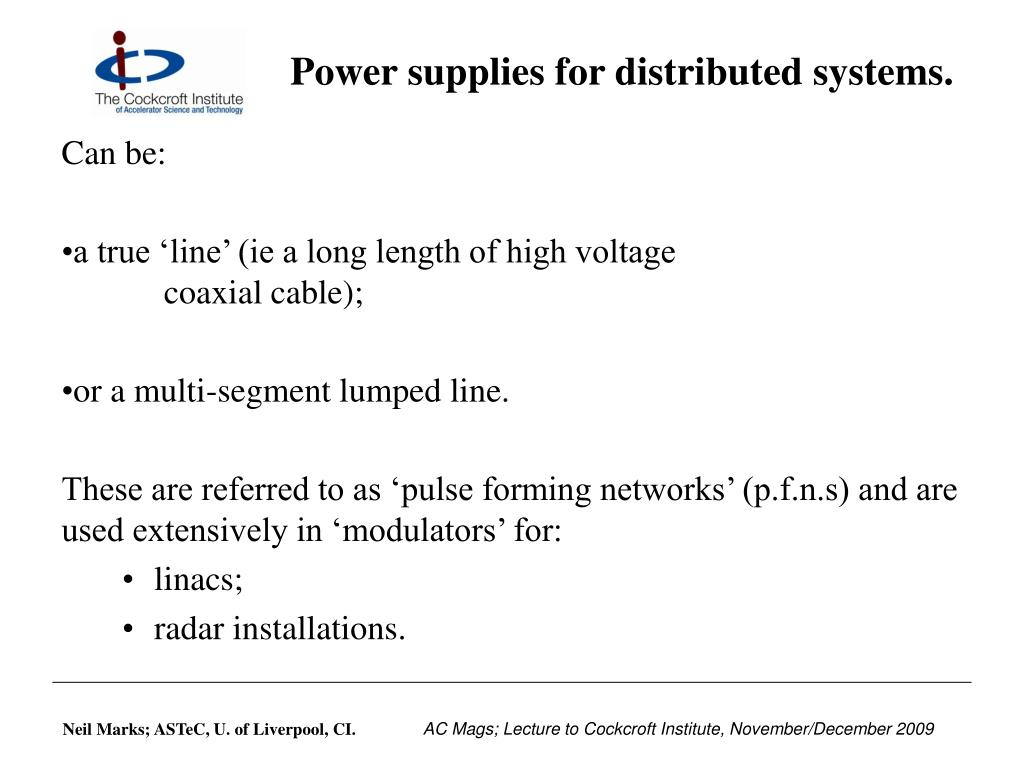 Power supplies for distributed systems.
