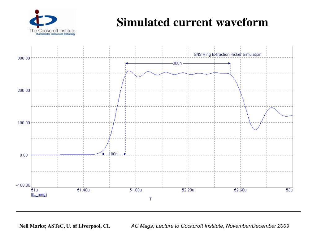 Simulated current waveform