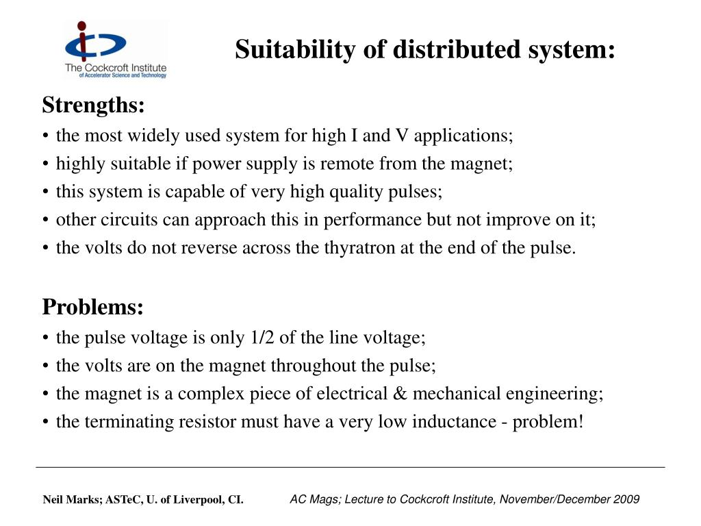 Suitability of distributed system: