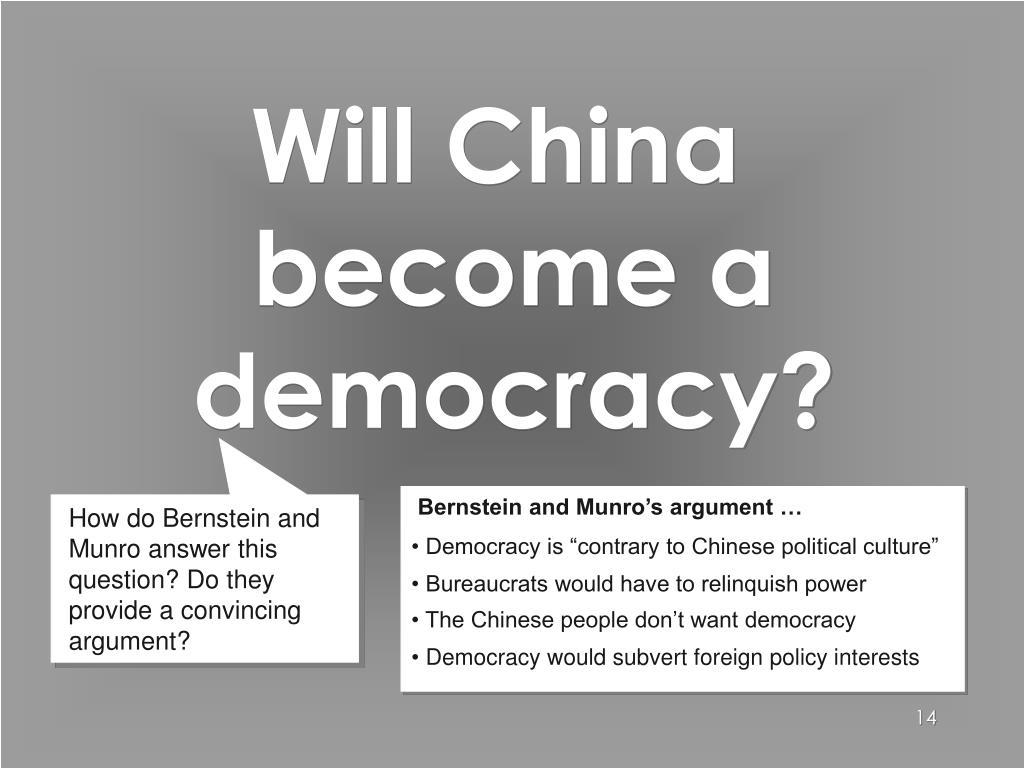 Will China become a democracy?