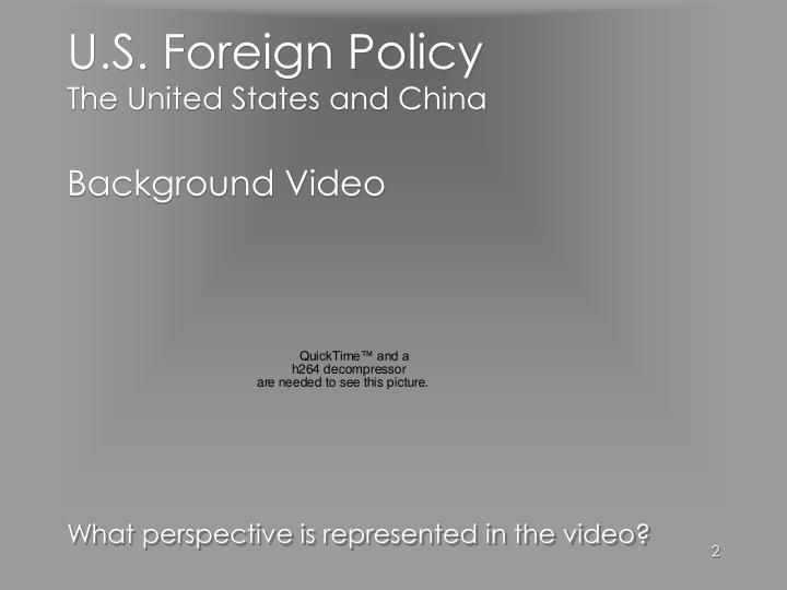 U s foreign policy the united states and china