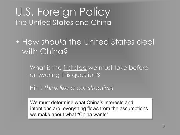 U s foreign policy the united states and china3