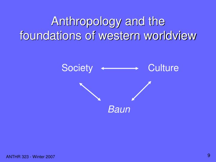 Anthropology and the  foundations of western worldview