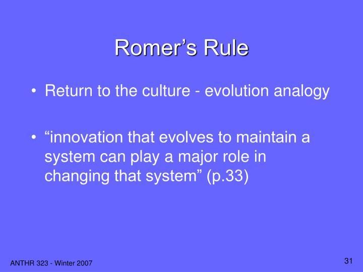 Romer's Rule