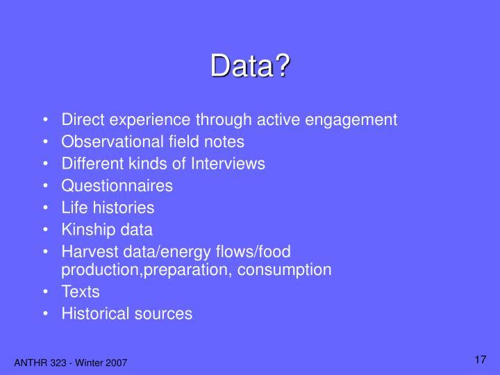Data?