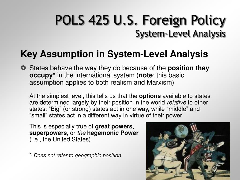 POLS 425 U.S. Foreign Policy