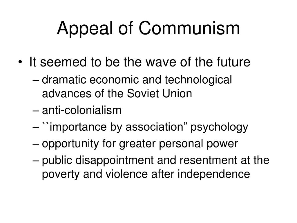 Appeal of Communism