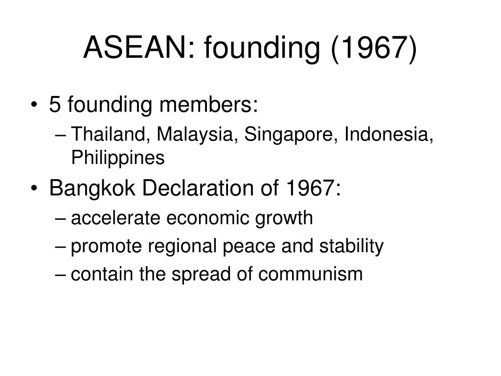 ASEAN: founding (1967)