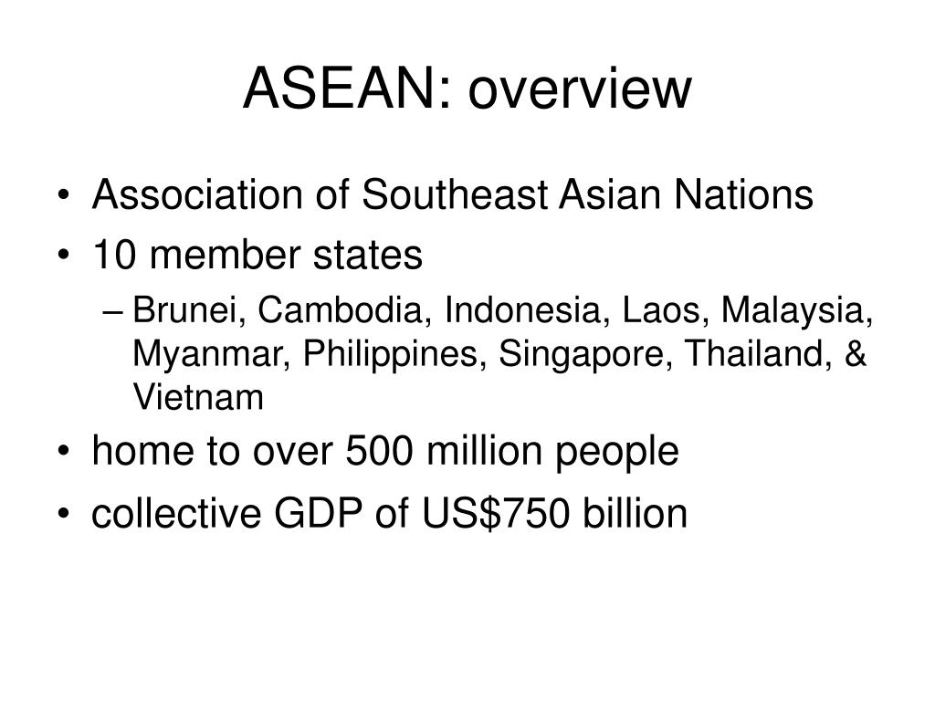 ASEAN: overview