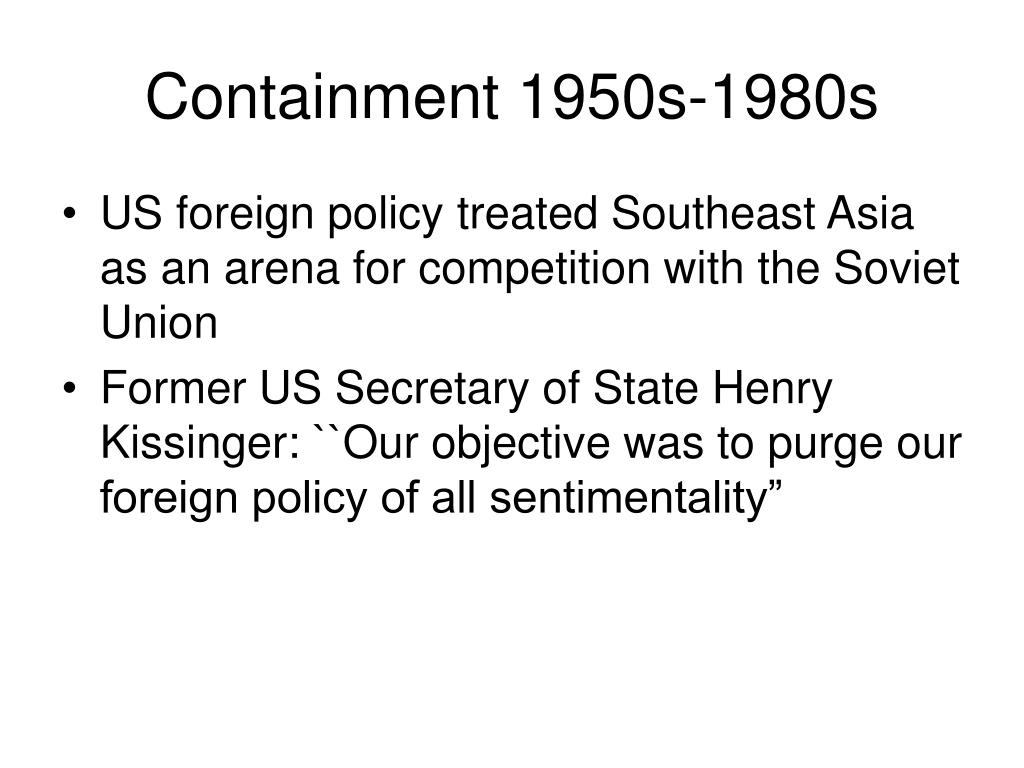 Containment 1950s-1980s