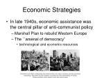 economic strategies