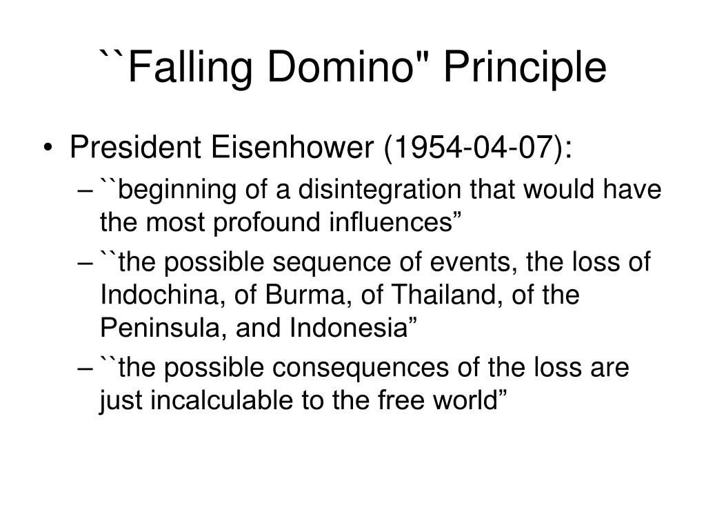"``Falling Domino"" Principle"