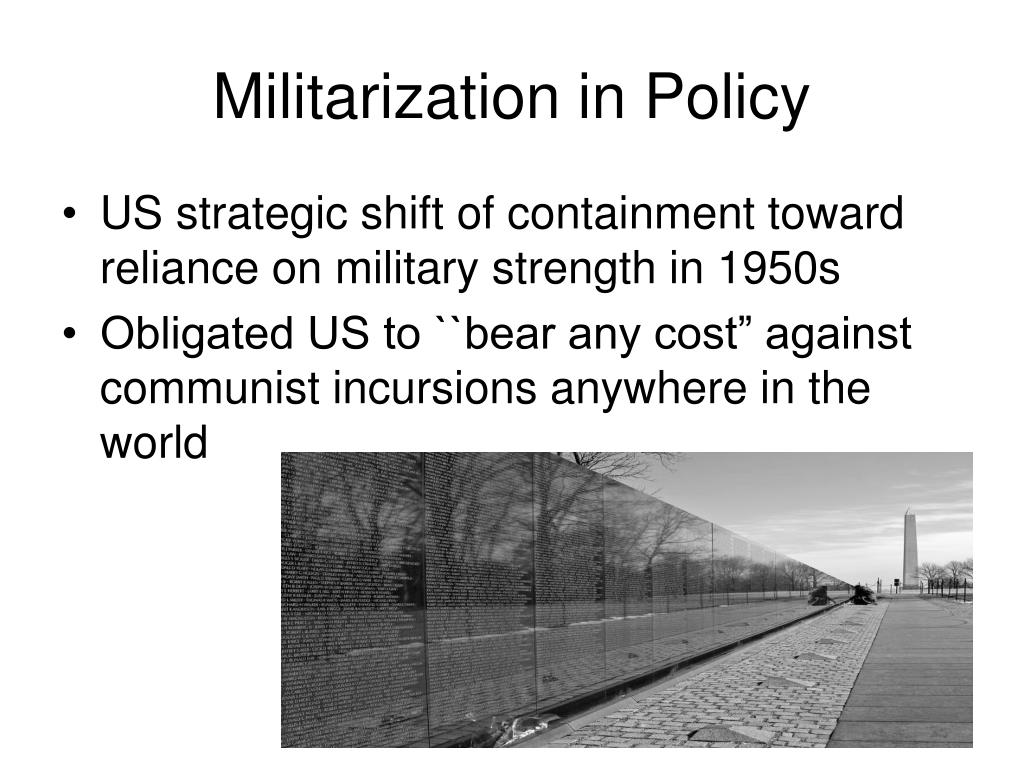 Militarization in Policy