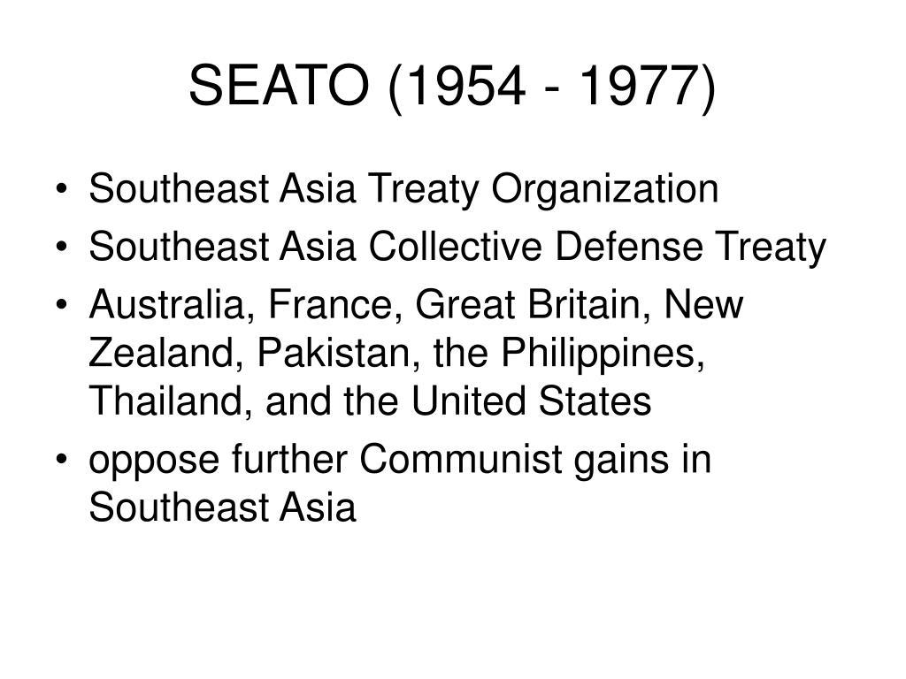 SEATO (1954 - 1977)