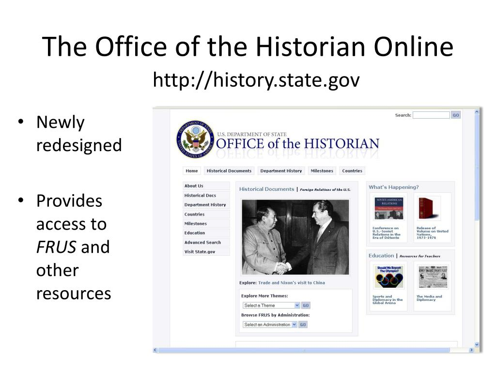 The Office of the Historian Online