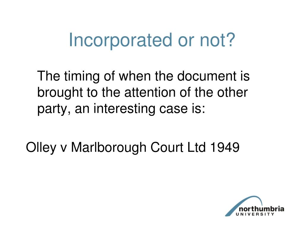 Incorporated or not?