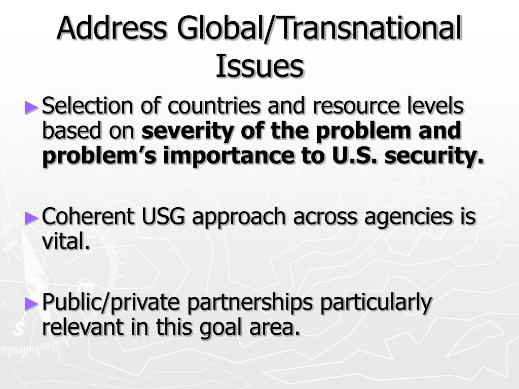 Address Global/Transnational Issues
