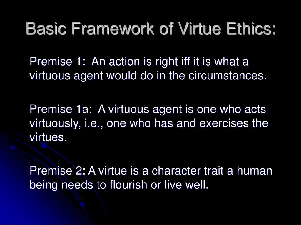 Basic Framework of Virtue Ethics: