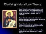 clarifying natural law theory