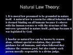 natural law theory39