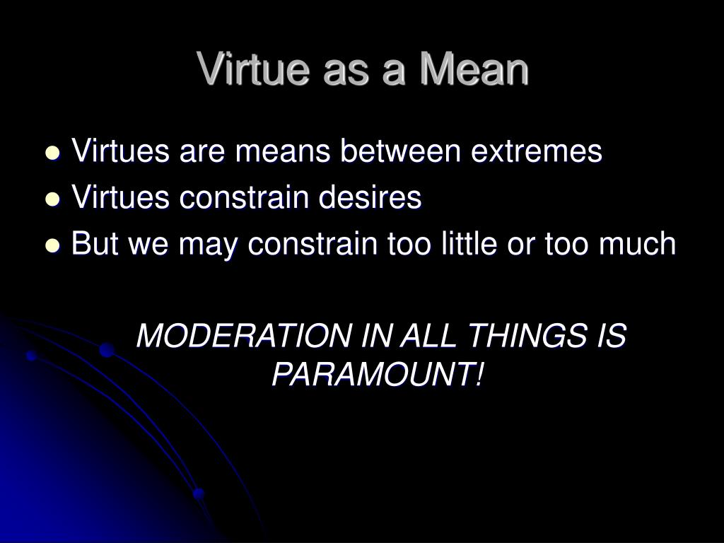Virtue as a Mean