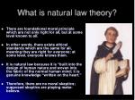 what is natural law theory