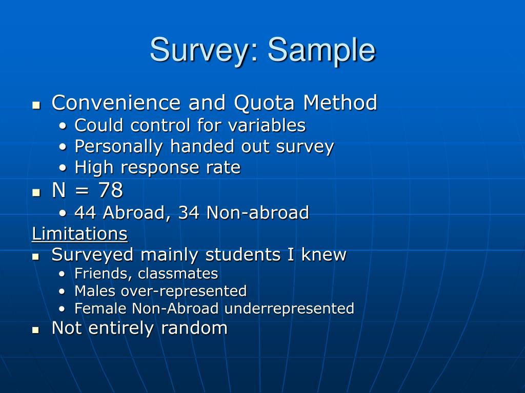 Survey: Sample