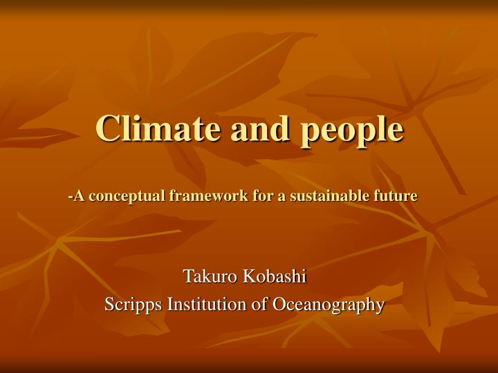 Climate and people