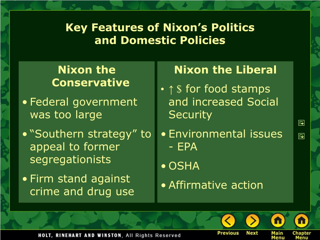 Nixon the Conservative