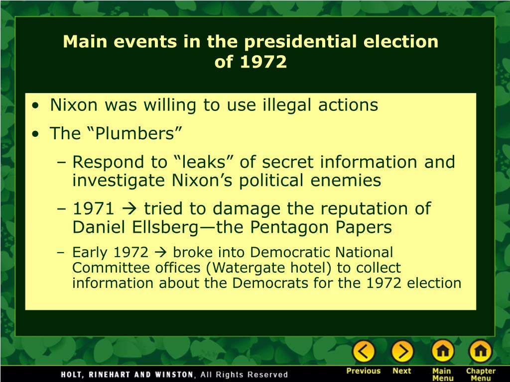 Nixon was willing to use illegal actions