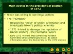 main events in the presidential election of 1972