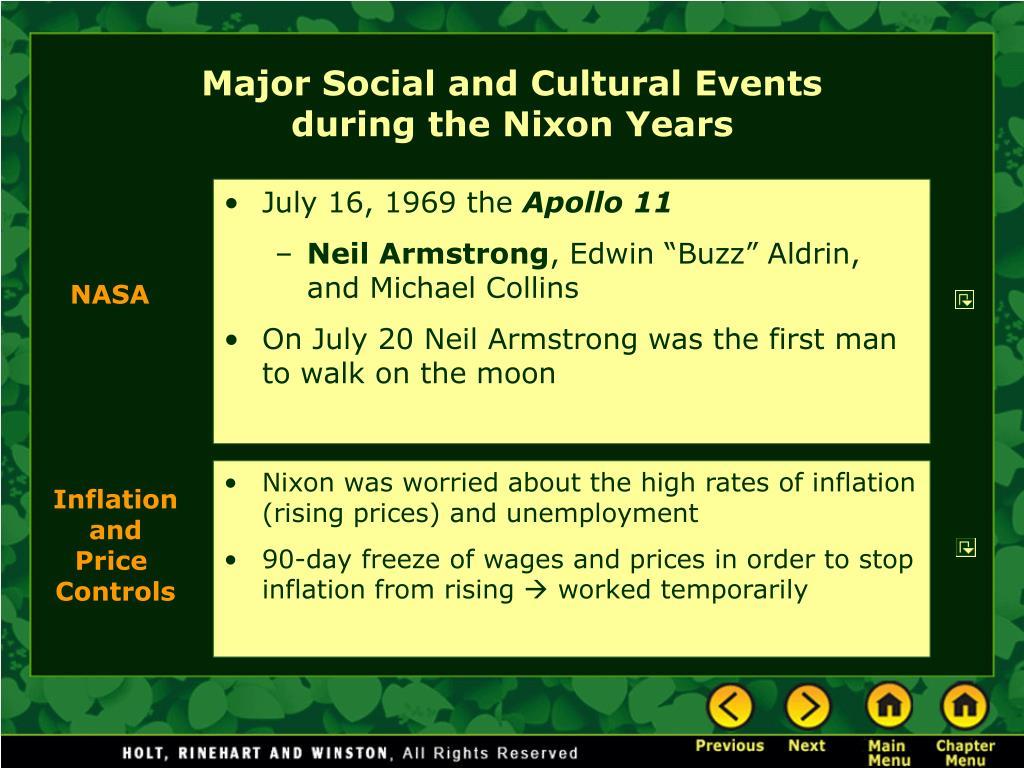 Major Social and Cultural Events