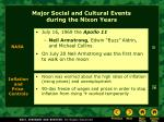 major social and cultural events during the nixon years