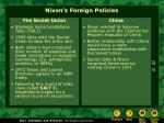 nixon s foreign policies
