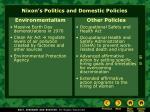 nixon s politics and domestic policies5
