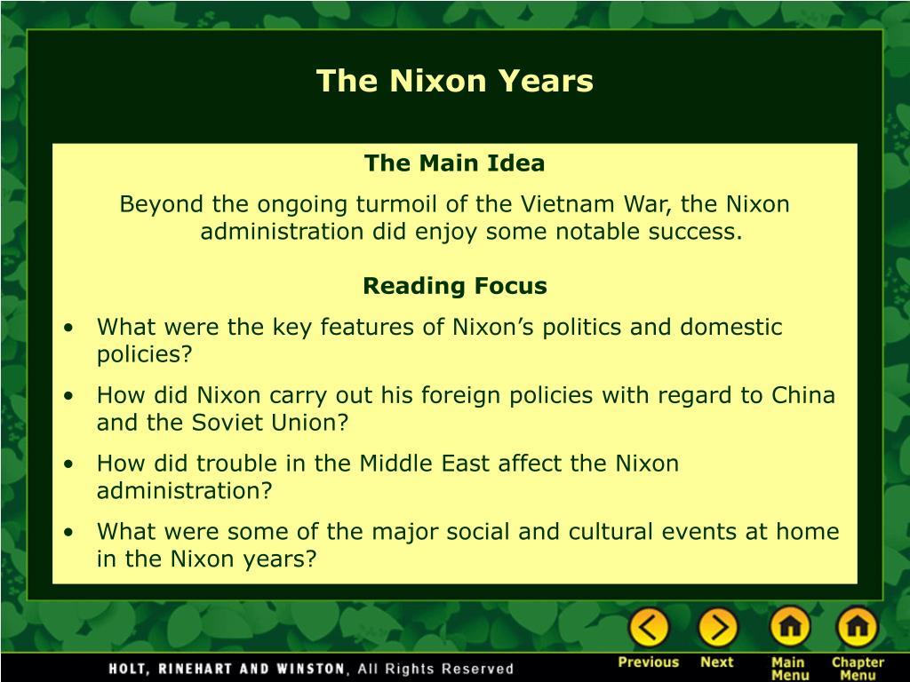 The Nixon Years