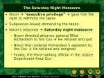 the saturday night massacre
