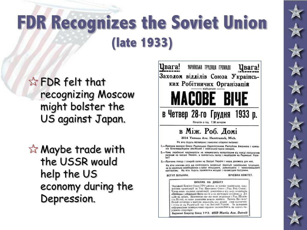 FDR Recognizes the Soviet Union
