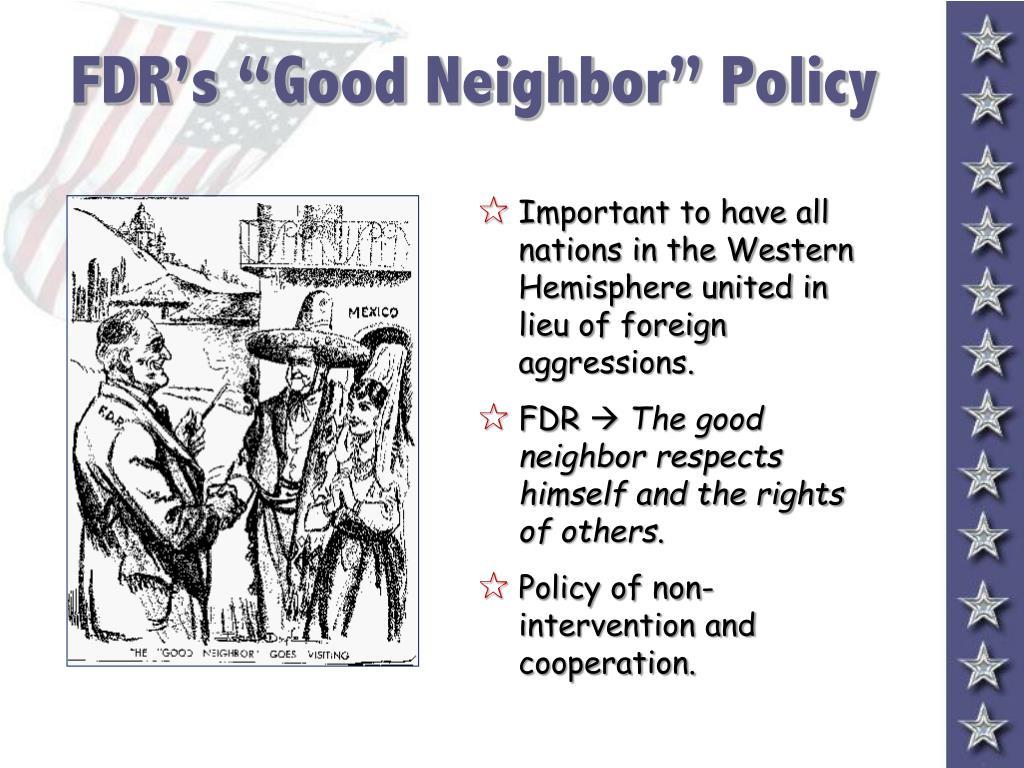 "FDR's ""Good Neighbor"" Policy"