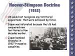hoover stimpson doctrine 1932