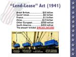 lend lease act 1941