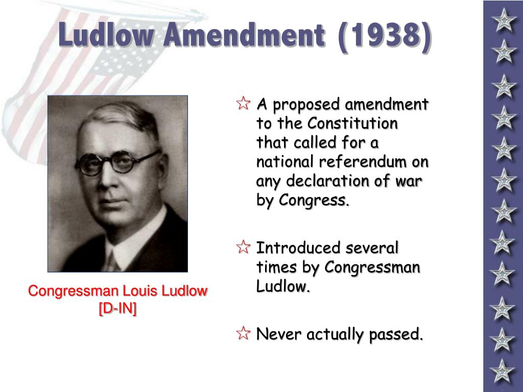 Ludlow Amendment (1938)