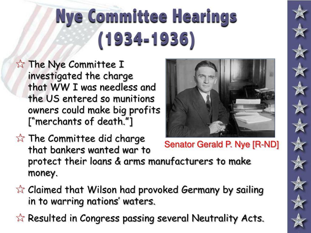 Nye Committee Hearings