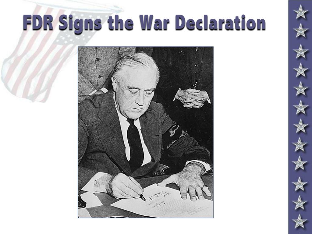 FDR Signs the War Declaration