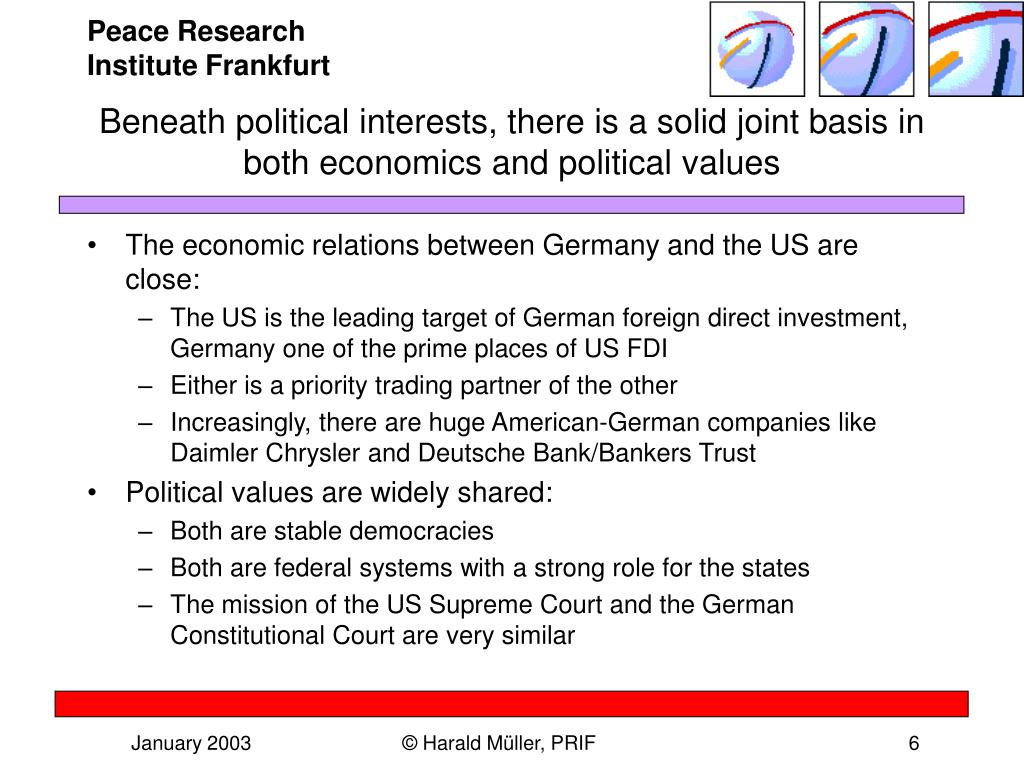 Beneath political interests, there is a solid joint basis in both economics and political values