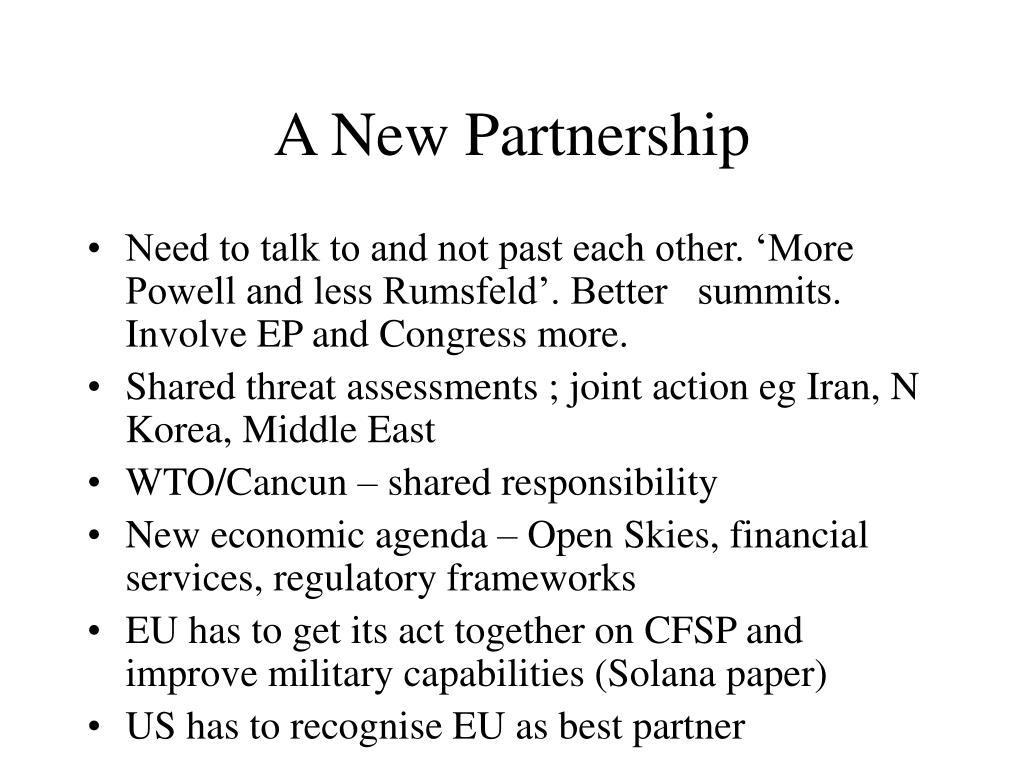 A New Partnership