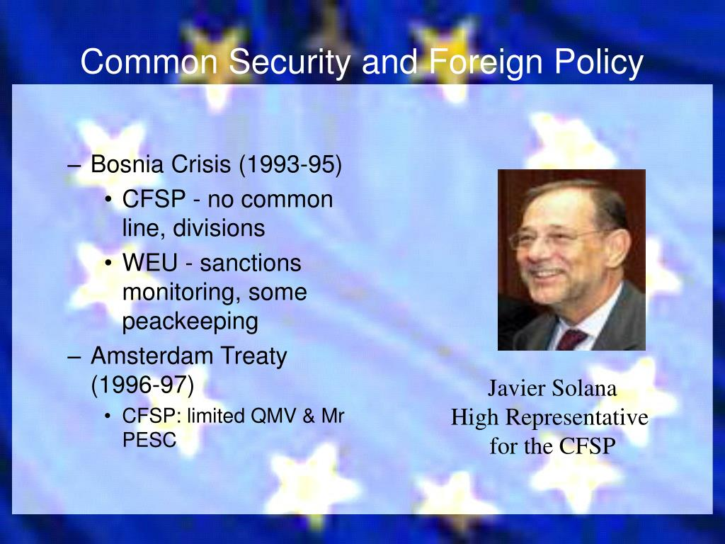 Common Security and Foreign Policy